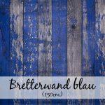 Bretterwand blau (150 cm)